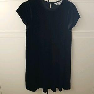 Girls 14 black velvet dress Lands End